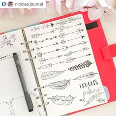 Doodle art and bullet journals go hand in hand. Discover 25 easy doodle art drawing ideas for your bullet journal. Bullet Journal Junkies, My Journal, Bullet Journal Inspiration, Journal Pages, Bullet Journals, Bullet Journal Dividers, Journal Layout, Journal Ideas, Filofax