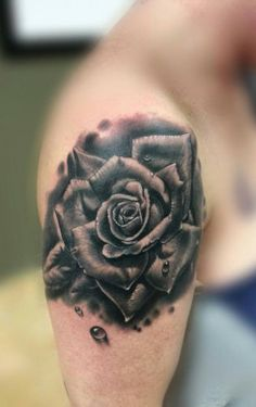 Love that this is fairly dark :)  Black and grey rose by Jp Alfonso