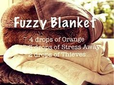 Diffuse Orange, Stress Away (Young Living), and Thieves (Young Living) to create a warm, cozy aroma that makes you want to curl up under a warm fuzzy blanket! :)