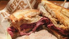 BRGR Kitchen + Bar -  Our Reuben sammy will shamrock your world. Try it today only at both locations! #StPatricksDay I