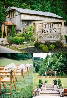 Spring wedding at the Barn at Chestnut Springs in Sevierville, Tennessee. A Smoky Mountain barn wedding venue. Spring wedding at the Barn at Chestnut Springs in Sevierville, Tennessee. A Smoky Mountain barn wedding venue. Modern Wedding Venue, Best Wedding Venues, Barn Wedding Venue, Outdoor Wedding Venues, Farm Wedding, Wedding Reception, Reception Ideas, Reception Halls, Wedding Draping