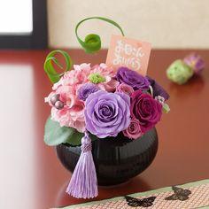 母の日 プリザーブドフラワー「紫艶珠華(しえんしゅか)~母への感謝~」
