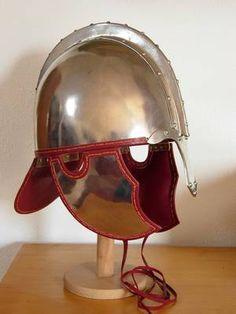 Roman Helmet, Ancient Armor, Roman Legion, Roman Fashion, Carthage, Arm Armor, Dark Ages, Roman Empire, Swords