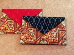 Block printed Kalamkari envelope clutches