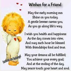 Wishes for my friends