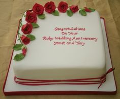 Ruby Anniversary Cake