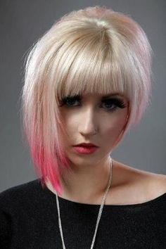 Exactly what I want- but maybe longer with slanted bangs