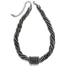 Snake chain crystal necklace by Fiorelli. Crystal Necklace, Beaded Necklace, Fiorelli, Eclectic Design, Necklace Online, Costume Jewelry, Jewelry Collection, Jewellery, Personalized Items