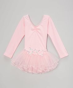 Take a look at this Baby Pink Tutu Long-Sleeve Leotard - Infant & Girls today!
