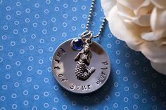 """Little Mermaid inspired """"Part of your world"""" necklace. Hand stamped on stainless steel and hung on a stainless 24"""" ball chain. Mermaid charm and swarovski crystal (color of your choice) included! As shown - $18    Have a different quote in mind? Let me know, we can make it work!     Stainless steel is hypoallergenic and will not tarnish with age or repeated wear.    http://www.facebook.com/stampedmemories"""