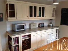 Ronseal kitchen cupboard paint ivory for DIY kitchen makeover Kitchen Cabinets Uk, Kitchen Cupboard Handles, Painting Kitchen Cabinets, Kitchen Paint, Home Decor Kitchen, Diy Kitchen, Kitchen Ideas, Kitchen Designs, Layout Design