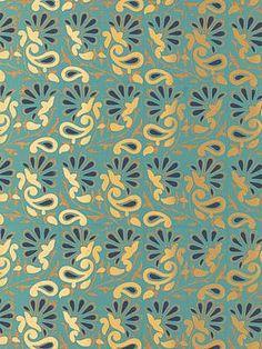 DecoratorsBest - Detail1 - Sch 5005343 - Rampura - Turquoise - Wallpaper - DecoratorsBest