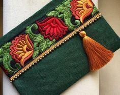 Bolso boho, embrague bohemio, embrague étnicos, regalo para ella, bolso de embrague