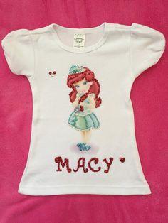 Disney personalized toddler princess Ariel shirt for girls