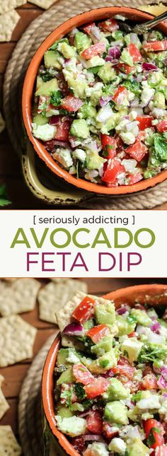 Simple, clean-eating and so delicious. This is a MUST hav… Easy Avocado Feta Dip. Simple, clean-eating and so delicious. This is a MUST have for any party. Avocado Feta Dip, Avocado Toast, Healthy Appetizers, Appetizer Recipes, Healthy Snacks, Healthy Recipes, Party Appetizers, Party Snacks, Healthy Nutrition