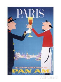 Pan Am - Paris Lámina giclée