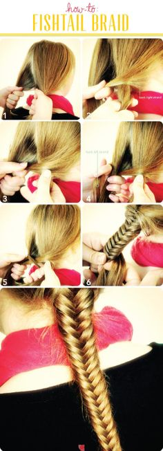 Fishtail braid! I can't do it very well but I hope this will help!
