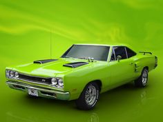 Green Machine  Super Bee or Roadrunner #cars #automotive #green