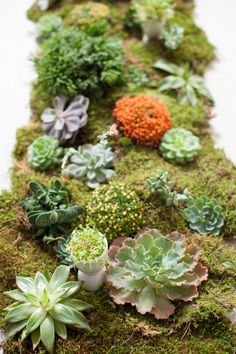 Mossy Donna Wilson inspired tablescape by Matthew Robbins