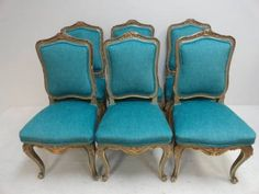 Antique French Louis XV Style Dining Chairs - Mecox Gardens