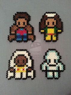 X-Men Perler Bead Figures (Gambit, Rogue, Storm, Iceman) by AshMoonDesigns https://www.etsy.com/shop/AshMoonDesigns