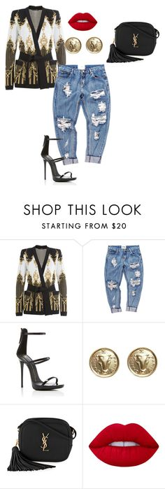 """Diva"" by ashleydomenique ❤ liked on Polyvore featuring Balmain, OneTeaspoon, Giuseppe Zanotti, Chanel, Yves Saint Laurent and Lime Crime"