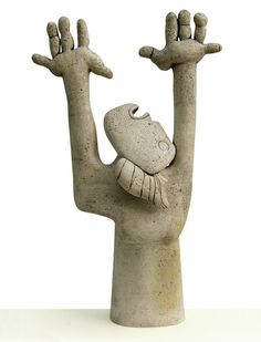 """Stella Zadros, ceramic sculpture- """"Obsession"""" from The Picasso Mania series, 2005, in private collection (Italy), 59 x 95 h x 28 cm, www.stellaart.com"""