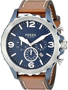 91ca7fa41 Fossil Men's JR1504 Nate Chronograph Brown Leather Watch ❤ Fossil Watches  Fossil Watches For Men,