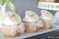Pretty Dainty Floral Cupcakes