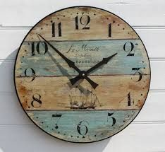 Driftwood Styled Nautical Clock   Great Inspiration For A Nautical Bedroom!