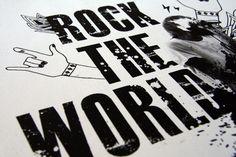 Rock The World by Jun Kim, via Behance Jun, Behance, Rock, World, Poster, Character, Skirt, Locks, Rock Music