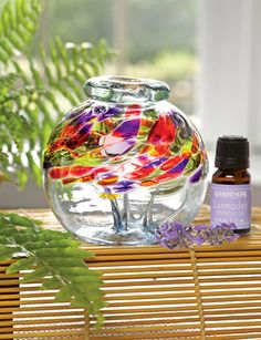 Art Glass Diffuser with Lavender Oil
