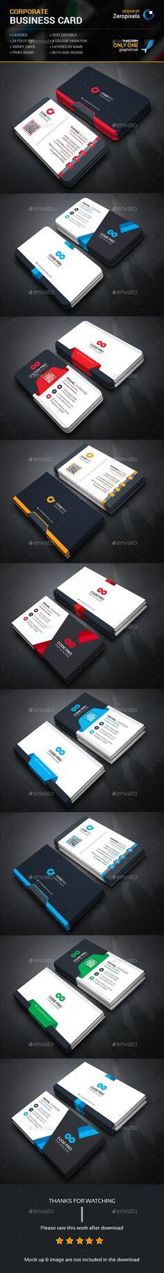 Business Template PSD Card Bundle. Download here: http://graphicriver.net/item/business-card-bundle/15233401?ref=ksioks
