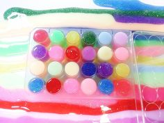 How To Make Clay Slime Kit With Glitter Nail Polish Luminous Paint 반짝이 매...