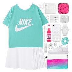 """""""Nike"""" by erin-lin ❤ liked on Polyvore featuring Monki, Cheap Monday, Topshop, NIKE, Supersmile, adidas, Christy, Oskia, nike and Casetify"""
