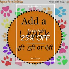 25% OFF on select products. Hurry, sale ending soon!  Check out our discounted products now: https://www.etsy.com/shop/katiesk9kollars?utm_source=Pinterest&utm_medium=Orangetwig_Marketing&utm_campaign=Sale