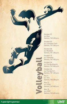 Vollyball sports schedule poster for our Inclusivity and Diversity campaign