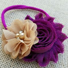Loving the colors of this new Nylon headband! Berry and caramel