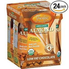 Pacific Natural Foods Organic Almond Non-Dairy Beverage, Low Fat Chocolate, 8-Ounce Pouches (Pack of 24) --- http://www.pinterest.com.mnn.co/2xl