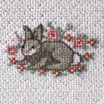 Free Bunny cross stitch pattern pdf from Herrschners, plus many more