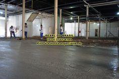 Aplicação de concreto polido