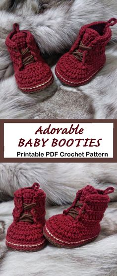 Make a cute pair of Doc Marten Baby Booties Crochet pattern - A Crafty Life Looking for a cute baby gift? Try these Baby Booties Crochet Patterns. They will make an adorable presents. There are many different styles Crochet Baby Sandals, Crochet Bebe, Booties Crochet, Crochet For Boys, Baby Booties Free Pattern, Crochet Shoes Pattern, Baby Shoes Pattern, Crochet Patterns, Crochet Patron