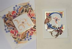 Illuminated letters – Tiziana Gironi Creative Lettering, Lettering Styles, Hand Lettering, Illuminated Letters, Illuminated Manuscript, Celtic Art, Celtic Dragon, Calligraphy Letters, Islamic Calligraphy