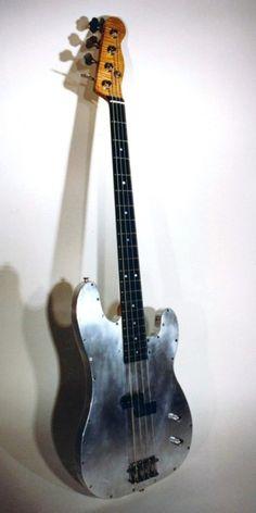 Specimen Custom Aluminum Tar Tele Bass Guitar