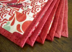 ~ Quick easy self binding with mitered corners