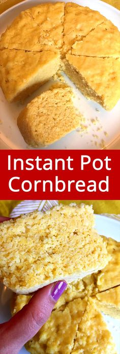 This Instant Pot cornbread is amazing! Truly the best ever! This is the only cornbread recipe you'll ever need! This Instant Pot cornbread is amazing! Truly the best ever! This is the only cornbread recipe you'll ever need! Instant Pot Pressure Cooker, Pressure Cooker Recipes, Pressure Cooking, Easy Thanksgiving Dinner, Pots, Make Banana Bread, Cornbread, The Best, Food And Drink
