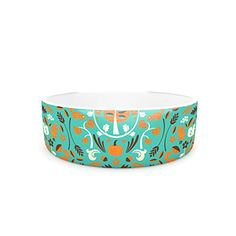 Kess InHouse Allison Beilke Autumn Harvest Blue Pet Bowl 475Inch ** More info could be found at the image url.