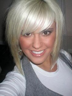 LOVE !! (and miss my hair cut like this. Always wanted blonde but it's not for me)more edgy cut