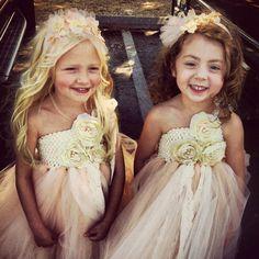 Vintage Pearl Flower Girl Tutu Dress
