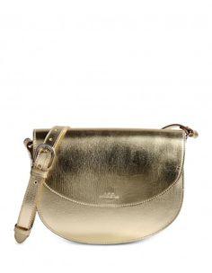 Luxembourg Metallic Leather Shoulder Bag
